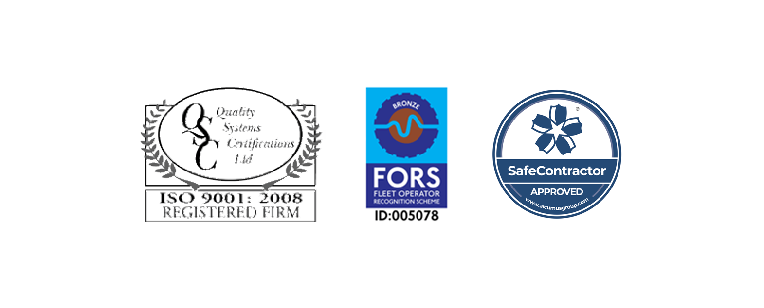 We are members of ENSE, CESA, FSB, Safe Contractor, FORS & we have recently been awarded ISO9001 Certification